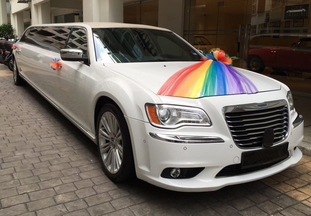 Stretch Chrysler Limousine Wedding Car