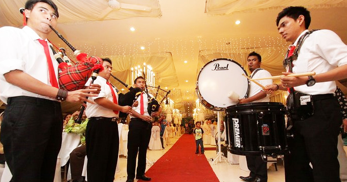 Malaysia Bag Pipes And Drum Performance For Event