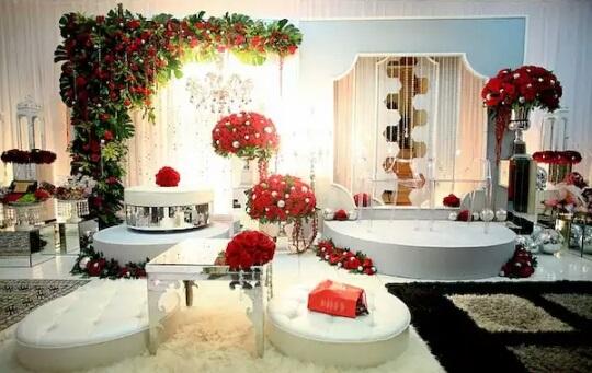 Pelamin Pertunangan & Akad Nikah: Red Mushroom